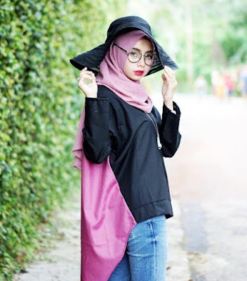model hijab casual modern