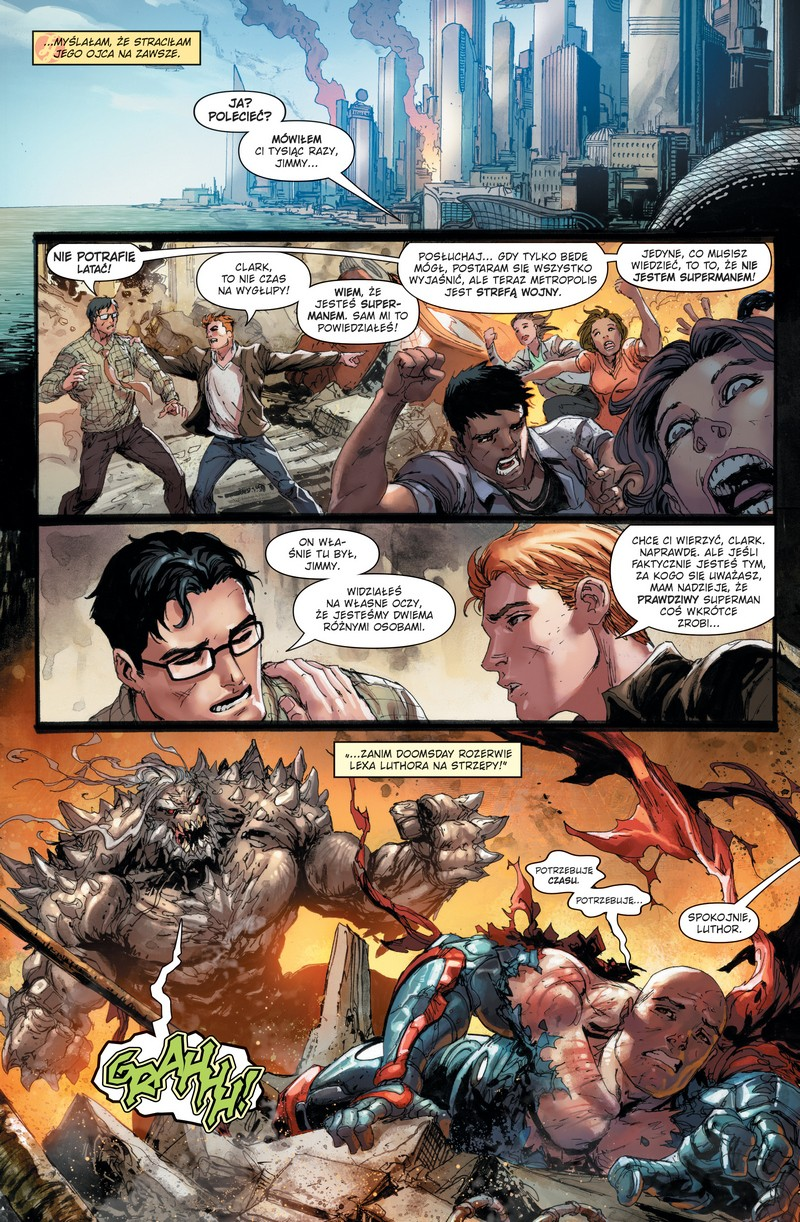 Action Comics tom 1: Ścieżka zagłady przykładowa strona