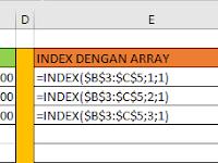 Fungsi Index Excel, Cara Penggunaan dan Contoh Fungsi Index Excel