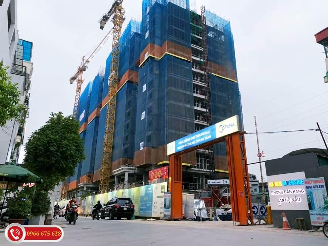 Cổng vào của khu căn hộ chung cư 622 Minh Khai
