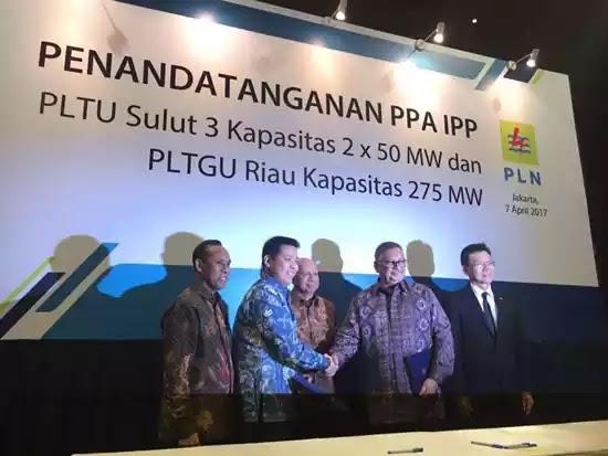 MoU PLN Riau dan Sulut