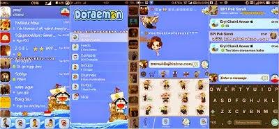Tampilan BBM Mod: Doraemon APK Gratis Terbaru