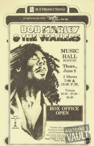Bob Marley handbill for Easy Skanking Show, Boston 1978