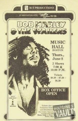 Bob Marley handbill for Easy Skanking Show, Boston 1978