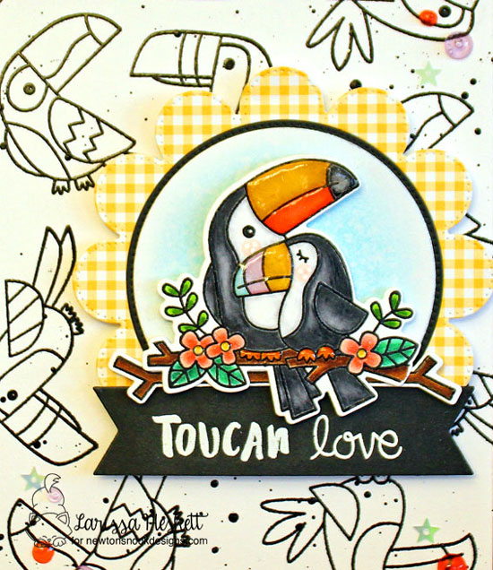 Toucan Love Card by Larissa Heskett | Toucan Party Stamp Set by Newton's Nook Designs #newtonsnook #handmade