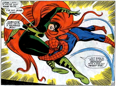 Amazing Spider-Man #62, don heck, john romita, spider-man flings himself forward and grabs medusa by the legs