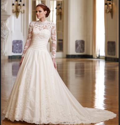 gaun pengantin modern