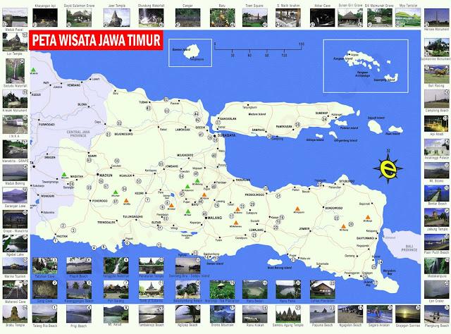 Gambar Peta wisata Jawa Timur