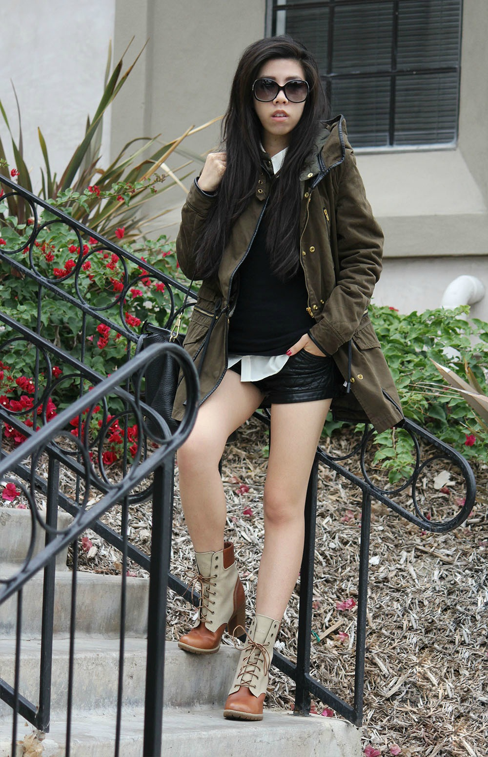 Adrienne Nguyen_How to Wear Timberland Boots to School_Casual Fashion_Graduate Student_Student Pharmacist UCSD