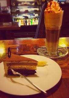 Cafe latte i tort Tribeca