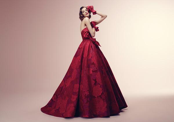 abito da sposa 2014 rosso Alessandra Rinaudo