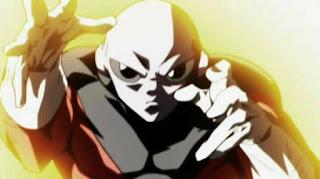 Jiren fighting Goku