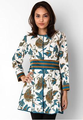 Model Atasan Baju Batik Untuk Kerja Terbaru