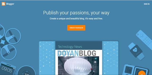 pertama buka situs blogger.com