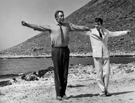 immagine dal film Zorba il greco 1964