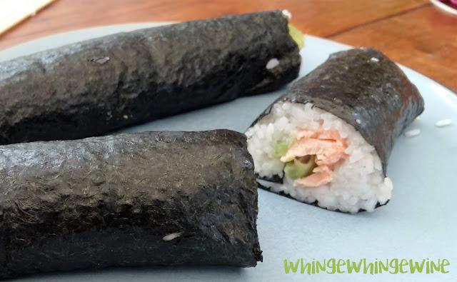 Hand rolled sushi with Yutaka sushi kit