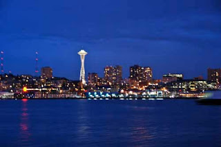 Nighttime Seattle Skyline