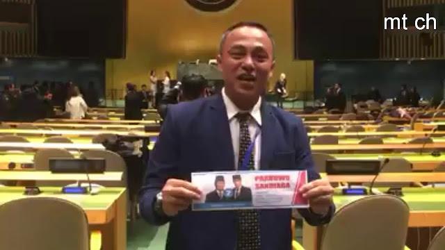 Viral Video Dukungan ke Prabowo di Ruang Sidang PBB
