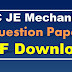SSC JE Mechanical Question Paper PDF 2012, 2013, 2014, 2015, and 2016 Download