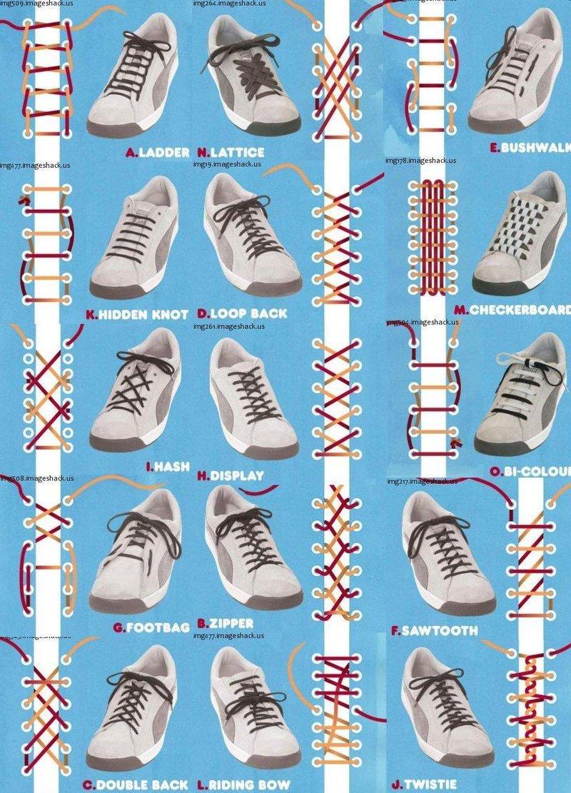 15 FORMAS DE USAR LOS CORDONES EN LAS ZAPATILLAS   Zapatos