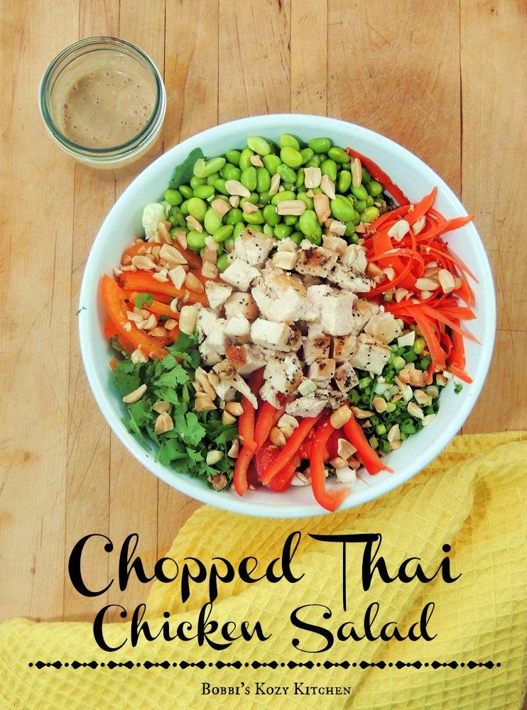 Chopped thai chicken salad bobbis kozy kitchen chopped thai chicken salad forumfinder Images