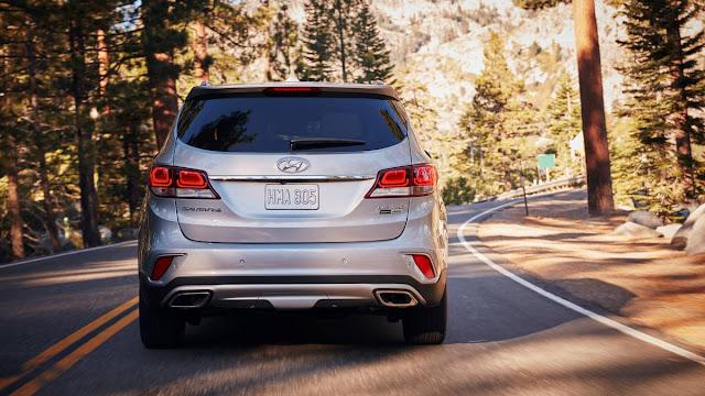 2018 Hyundai Santa FE Review back view