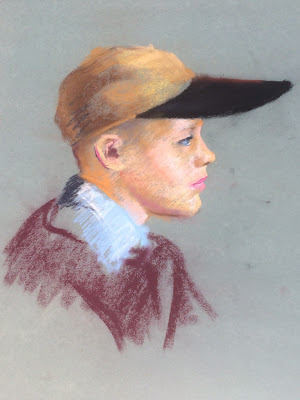 Pastel sketch of boy by Artist Francis Quirk