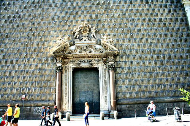facciata, chiesa, monumento, turisti