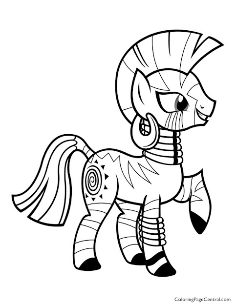 My Little Pony  Zecora  Coloring Page Coloring Page Central Throughout  Incredible Princess Coloring Pages