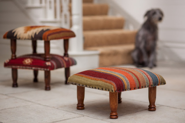 Ooty & Red Tribal Footstools
