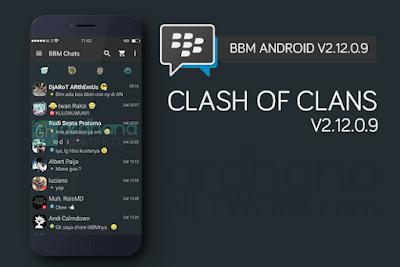 BBM Mod Theme COC (Clash of Clans) Versi 2.12.0.9 Terbaru