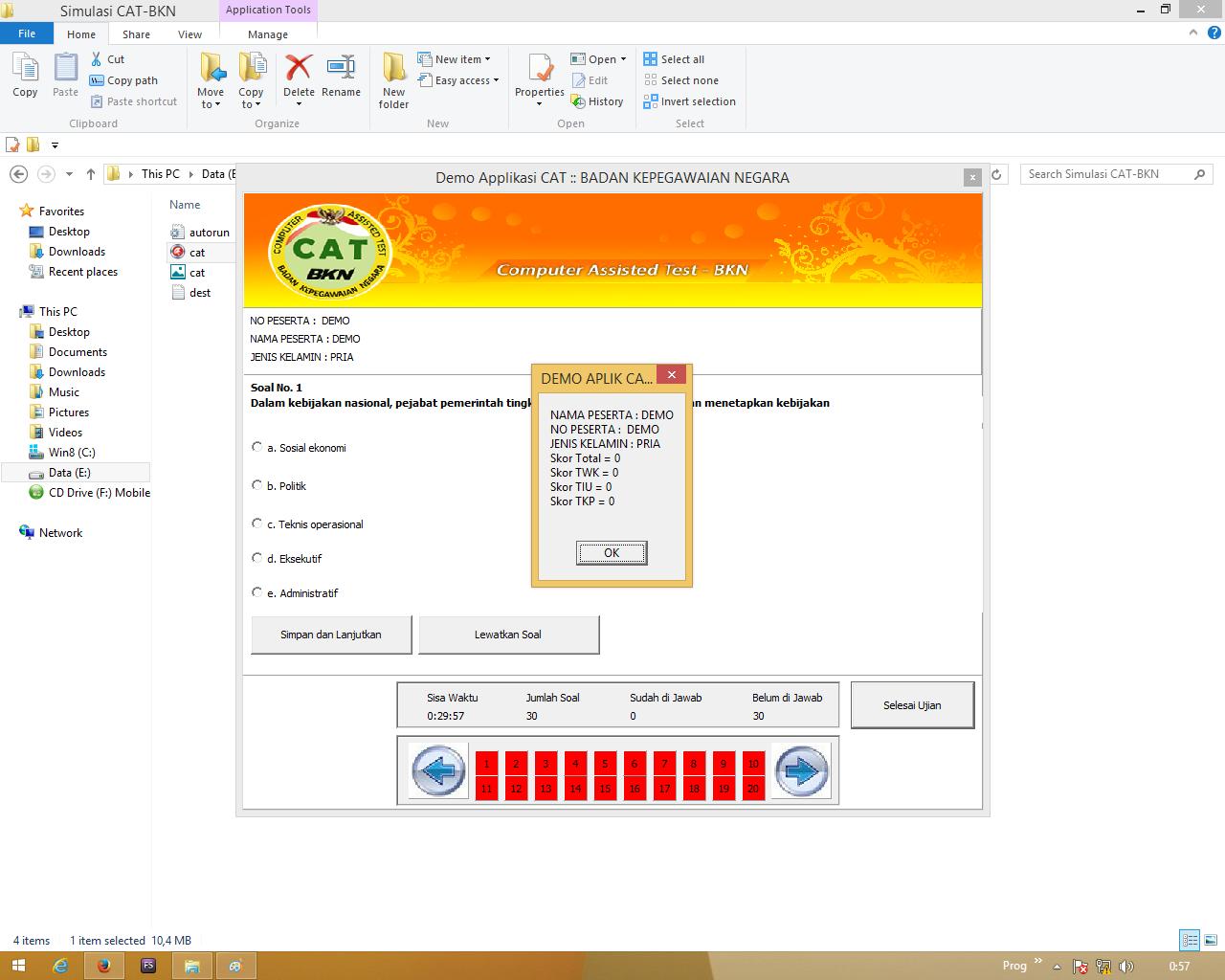 Download Demo Simulasi Cat Bkn Tes Seleksi Pegawai Asn Cpns Amp Pppk