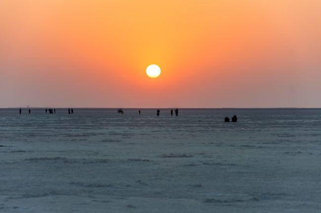 Sunset at White Desert - Rann of Kutch