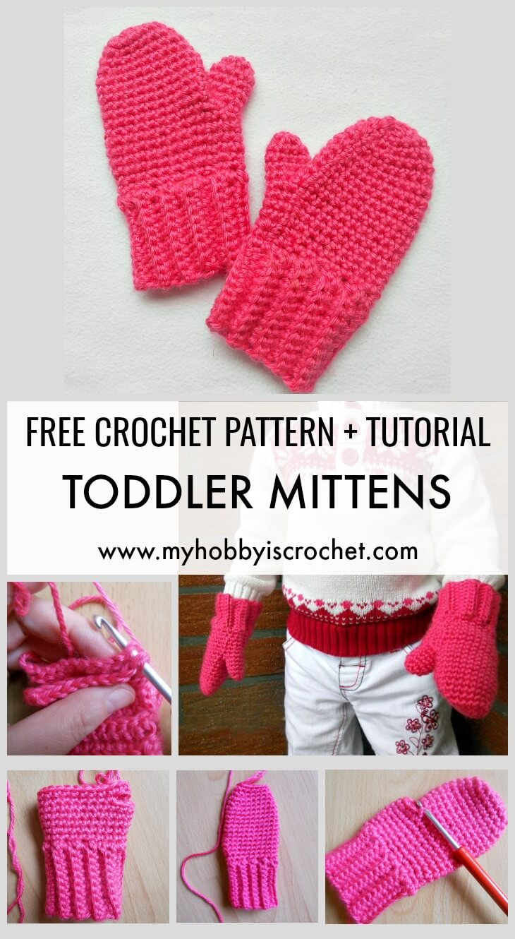 My Hobby Is Crochet Toddler Mittens Free Crochet Pattern With