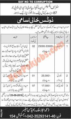 Persons Required In Centre Of Excellence In Molecular Biology