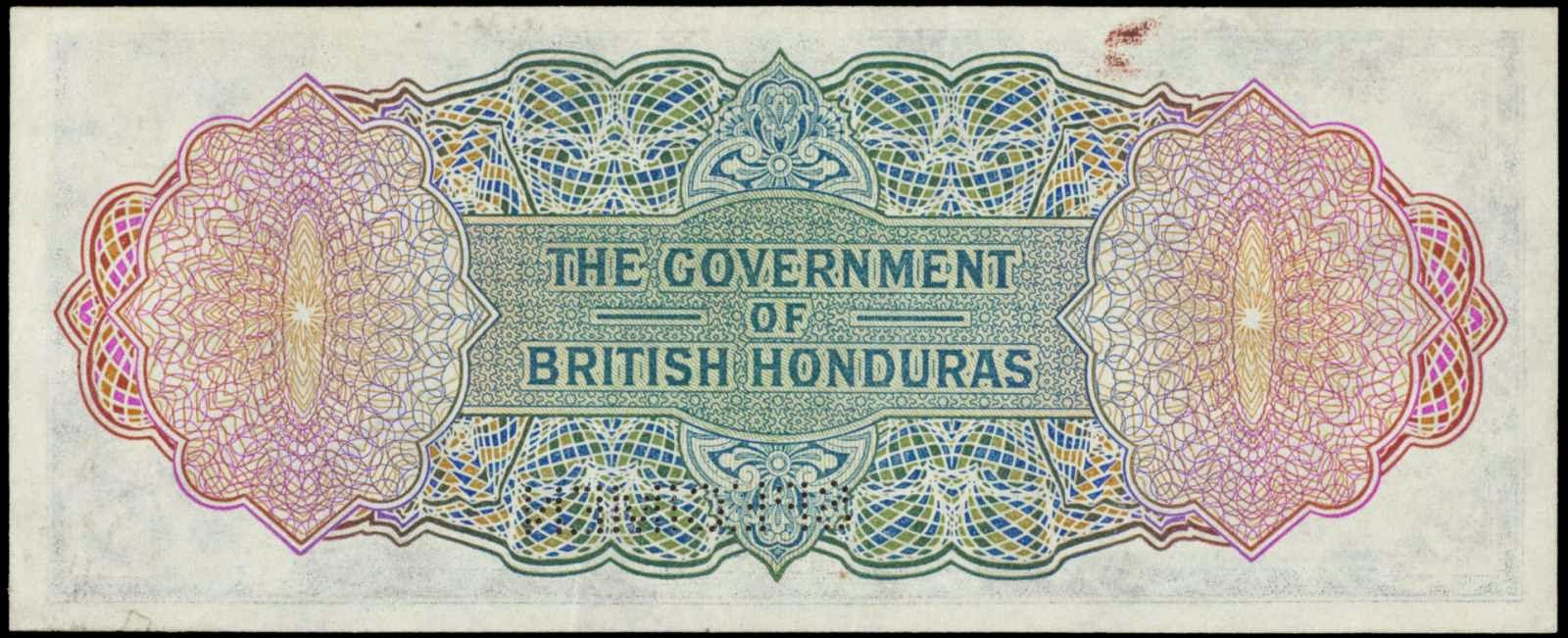 Government of British Honduras Notes One Dollar 1939