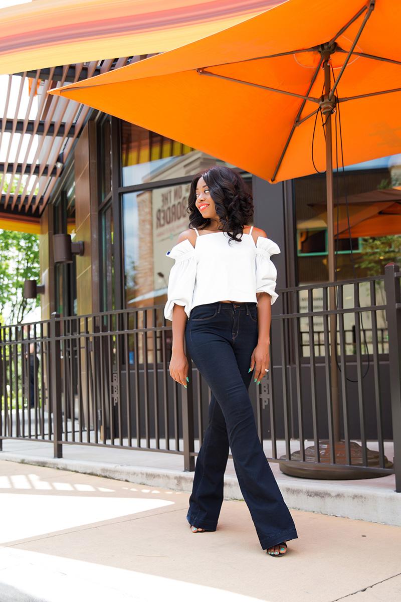 style mafia maeve top, jbrand flare jeans, www.jadore-fashion.com