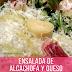 Ensalada de Alcachofas y queso #receta