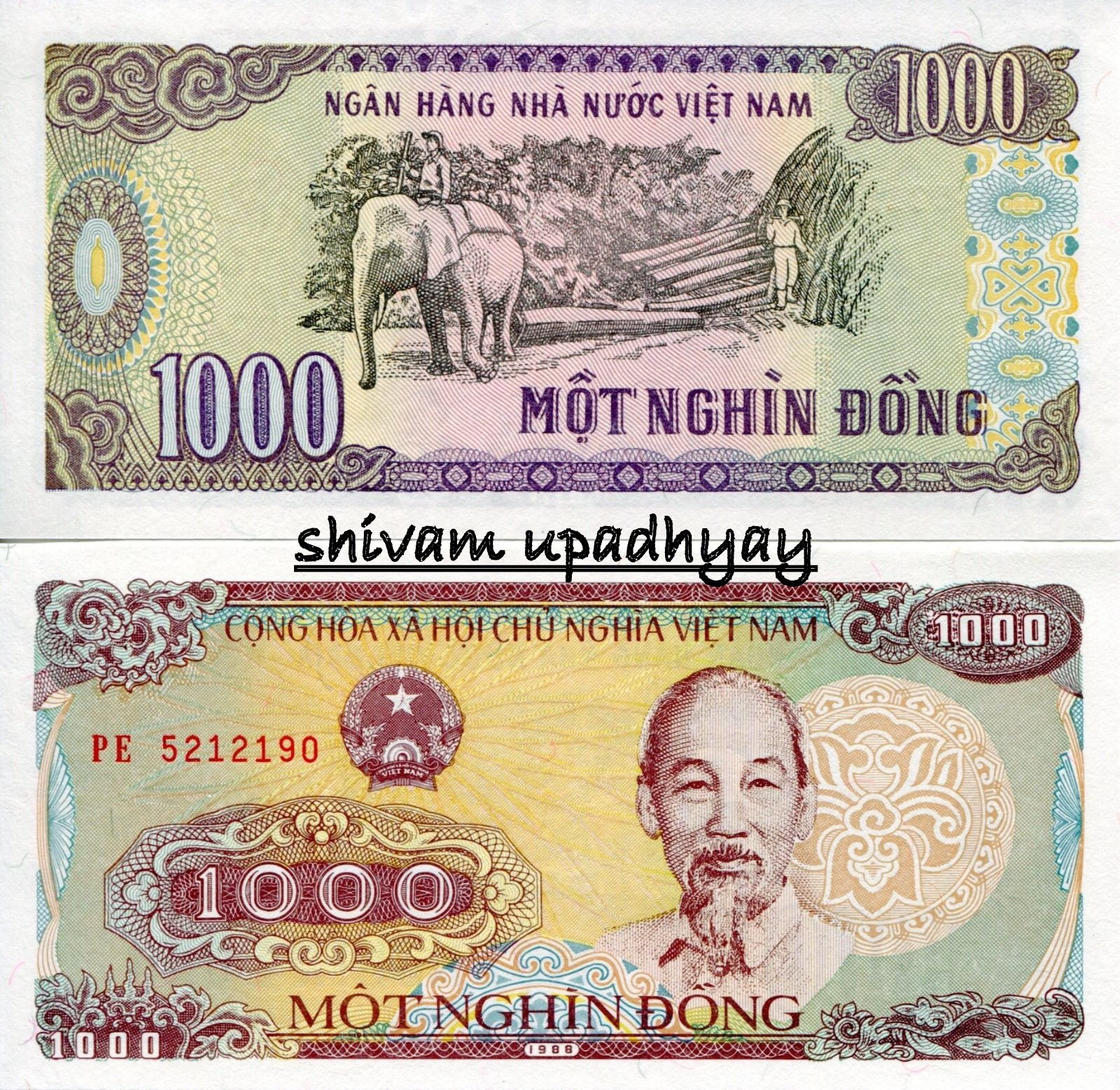 V6 Vietnam 1000 Dong Unc Asm Currency Philately Store