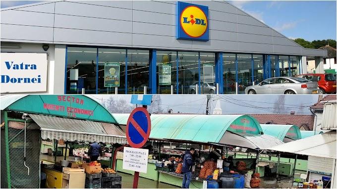 Se zvonește că un magazin LIDL va apărea în locul pieţei din Vatra Dornei