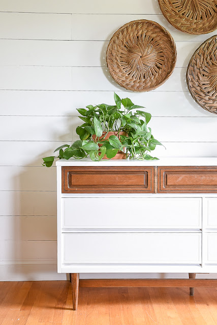 White and wood painted furniture ideas