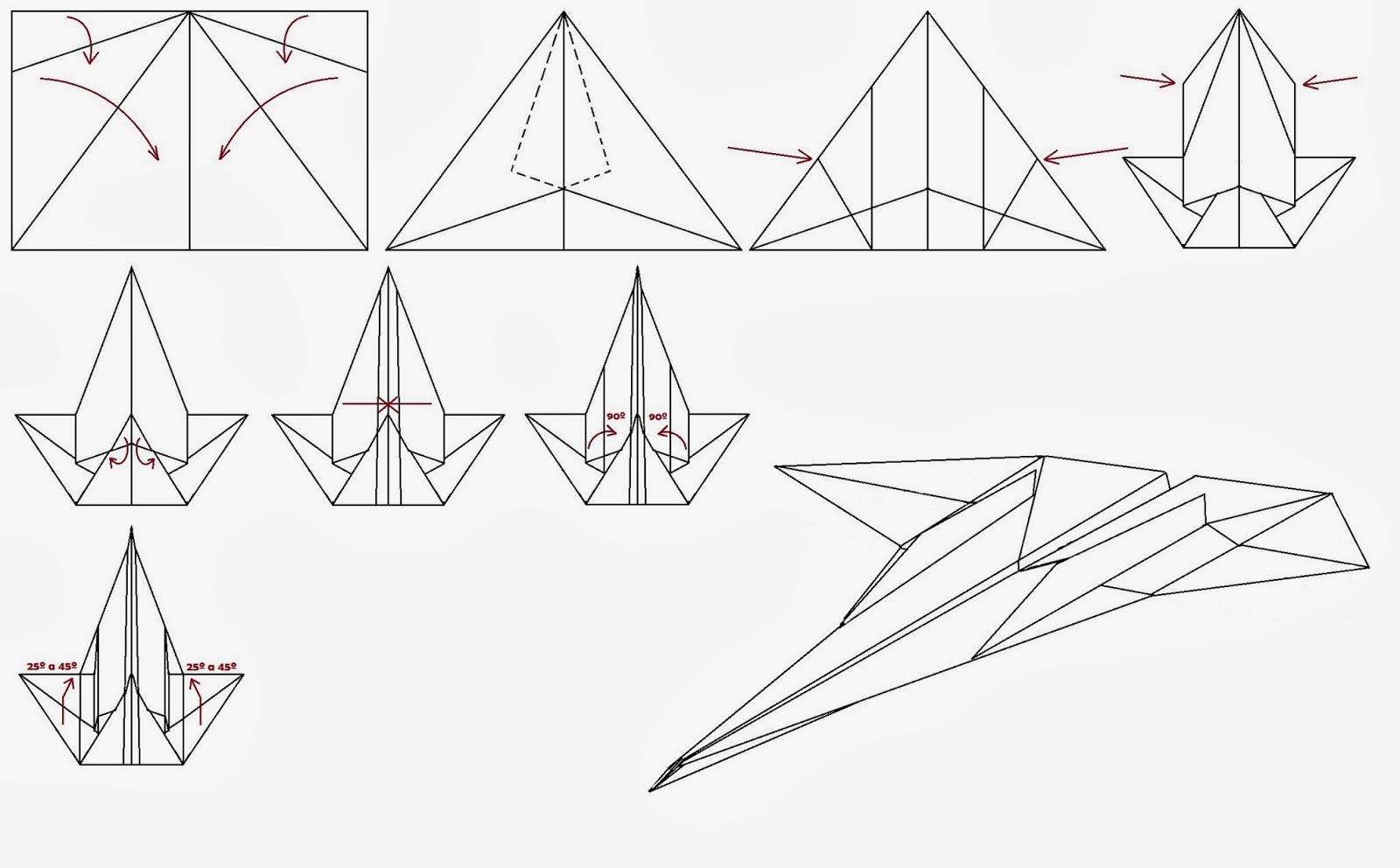 Avión de papel Wing 51