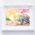 ↣ FREE Watercolor - Sunset Watercolor Painting