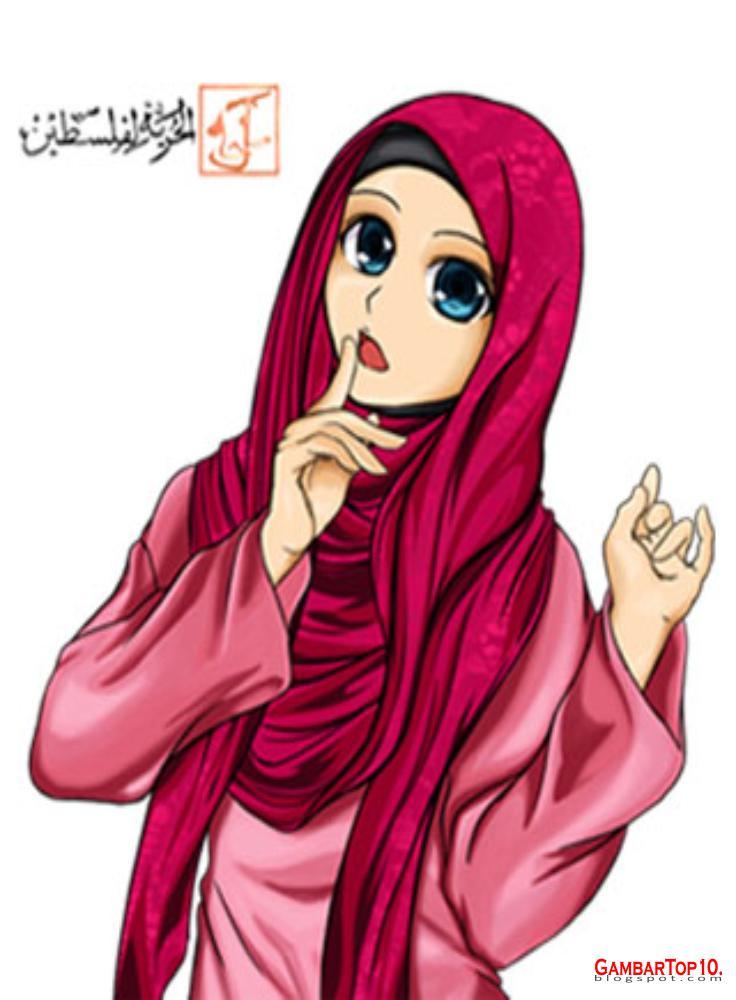 40+ Gambar Kartun Muslimah Keren Dan Cantik Terbaru
