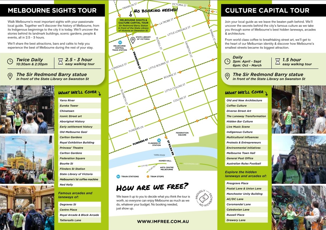 victoria melbourne sights free walking tour
