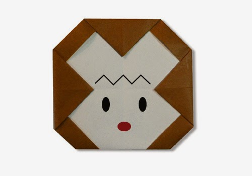Origami Tutorials - How to make a face of Monkey with Video tip