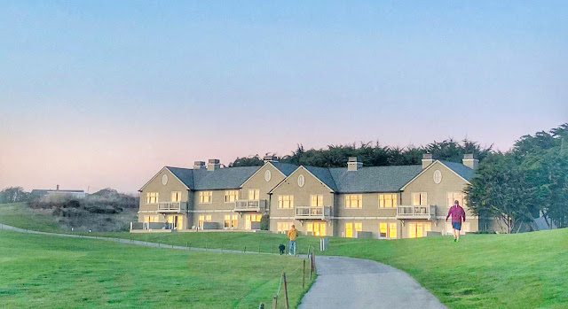 There are multiple buildings in this property across this huge land around Golf Course. One can take ride from one building to another but it's awesome to walk around these lush green grounds around Ritz Carlton in Half Moon Bay.