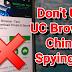 UC Browser Sending Data to China