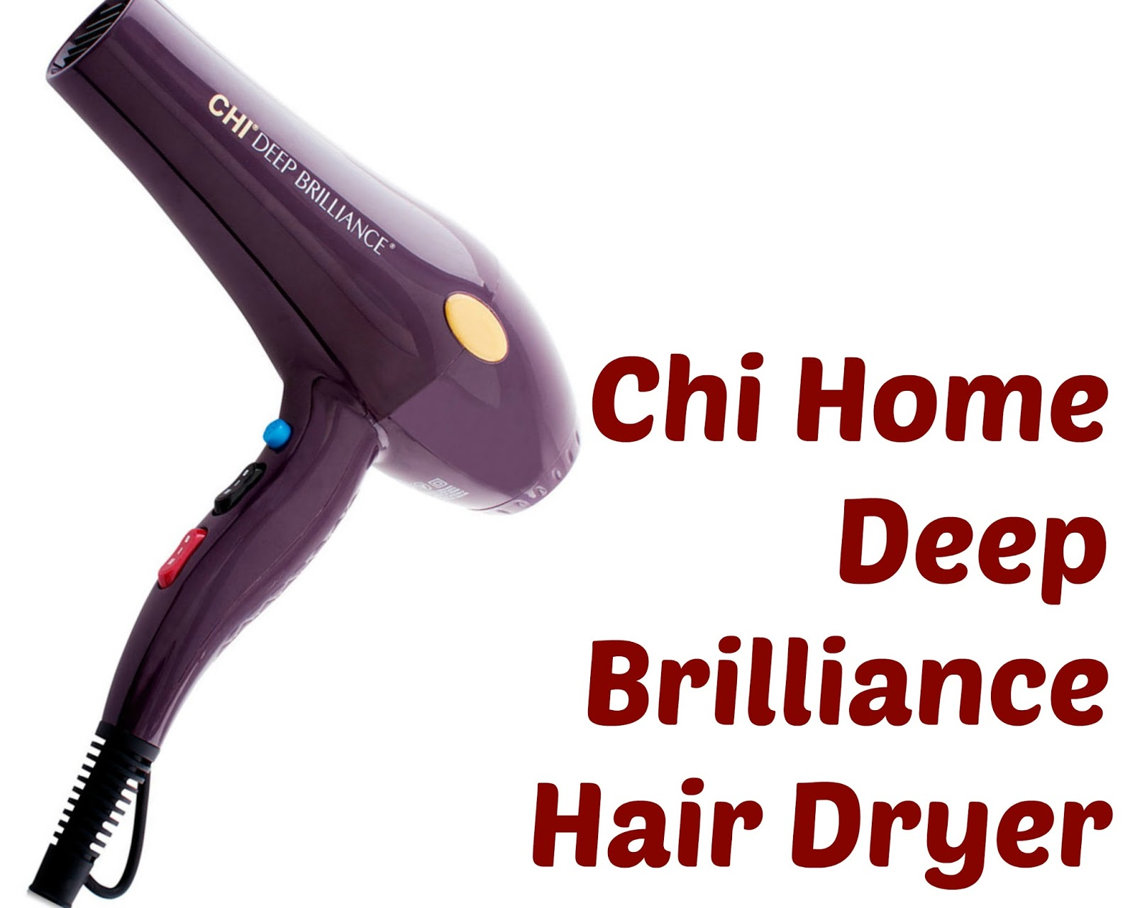 Click here to buy Chi Home Deep Brilliance Hair Dryer, the perfect hair dryer for Type 4 hair