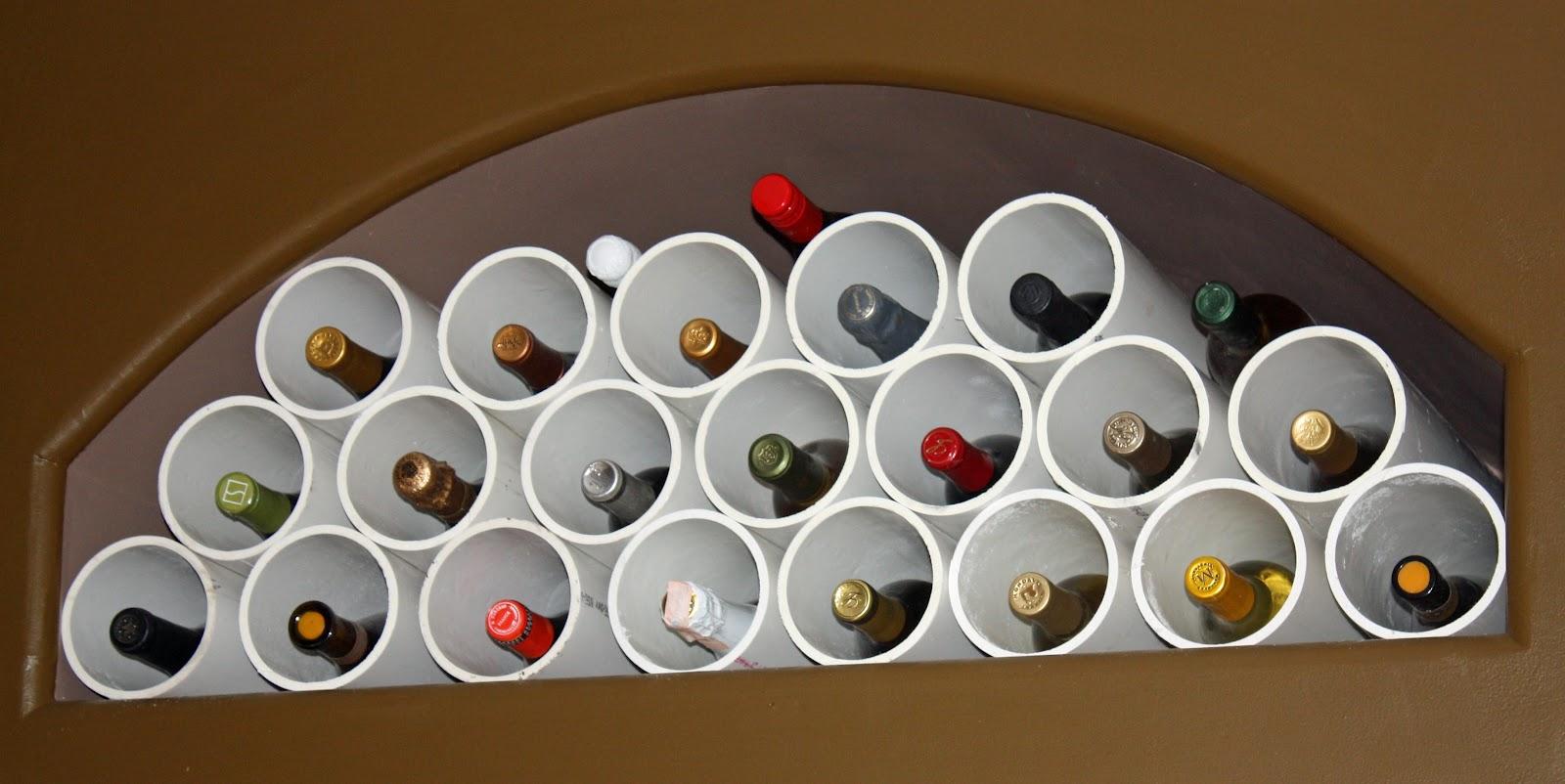 Transforming Home....: PVC piping wine rack